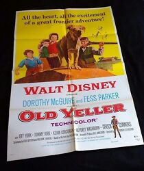 Old Yeller Original R79 Movie Poster 27x41 • Signed By Tommy Kirk W/ Coa Disney