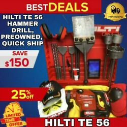 Hilti Te 56 Hammer Drill Preowned Free Tablet A Lot Of Extras Quick Ship