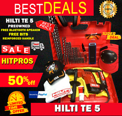 Hilti Te 5 Preowned, Free Bluetooth Speaker, Reinforced Handle, Bits, Fast Ship