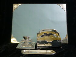 Vintage 1920and039s / 1930and039s And Co. Sterling Silver Desk Set