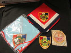 Schiff Scout Reservation Neckerchiefs, Patches Including 1960 50th Anniv  Eb09