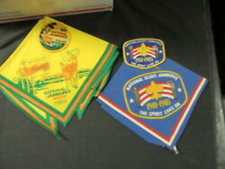 National Jamborees 1957 To 1989 Neckerchief And Patch Lot   Eb09