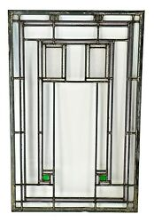 MUSEUM QUALITY LOUIS SULLIVAN-DESIGNED HENRY BABSON HOUSE LEADED GLASS WINDOW