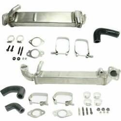 Heavy Duty Vertical And Horizontal Tube Egr Cooler Kit For 2008-10 Ford 6.4l