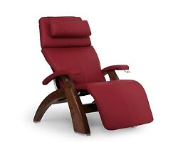 Human Touch Red Leather Pc-420 Classic Plus Zero Gravity Perfect Chair Recliner