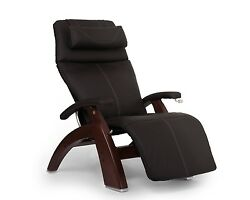 Human Touch Espresso Leather Pc-420 Chestnut Zero Gravity Perfect Chair Recliner