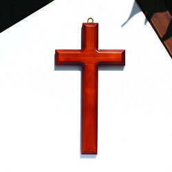 Simple and Elegant 11 1 2 quot; Wooden Wood Wall Cross for Church and Home Type M $28.95