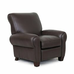 Power Barcalounger Lectern Ii Recliner Lounger Chair Chocolate Top Grain Leather