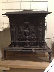 S.h. Ransom And Co. Victorian Cast Iron Stove