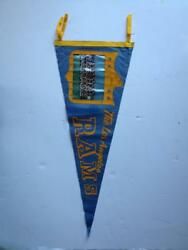 1960 Los Angeles Rams Pennant Football Team Photo Trench Old Flag 1961 Vintage