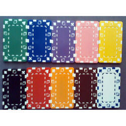 100 Poker Chip Plaques Choice Of 10 Colors