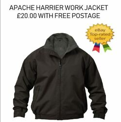 Apache Workwear Harrier Fleece Lined Water Repellent Bomber Jacket Black M And L