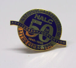 Vtg 50th Anniversary Nalc National Association Of Litho Clubs 1996 Lapel Pin