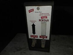 Vintage Roi-tan Cigars And Chewing Gun Coin Operated Vending Machine