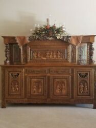 French Oak Hutch And Dining Room Set