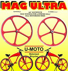 Complete 29 Mag Wheels For Diy 2-stroke 66cc/80cc Motorized Bicycle Kit