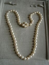 Gorgeous Vintage Pinkrose Pearl Necklace