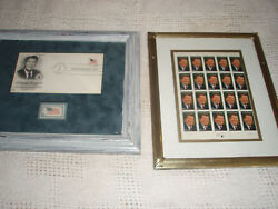 Ronald Reagan Inaugation Day Cancelled Stamp. And Complete Sheet Of Stamps.frame