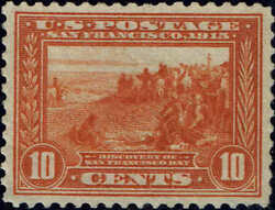 400a 1913 Orange 10c Pan-pacific Issue Mint-og/nh---vf/xf