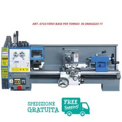 Parallel Lathe With Change Of Speed With Gears Fervi Art. 0708 With Base