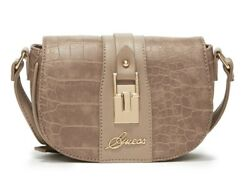 new guess sherry womens cross-body bag purse taupe beige