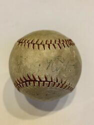 1927 Babe Ruth Single Signed Autographed Baseball With PSA DNA COA