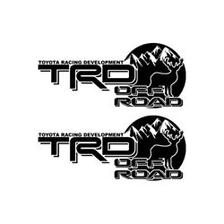 2x Multiple Color Off-road Hunting Decal Sticker For Trd 4runner Tacoma Suv Car