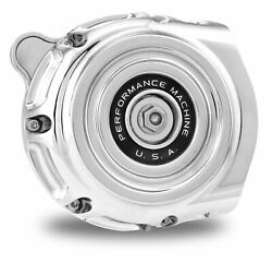 Performance Machine Pm Chrome Vintage Air Cleaner Harley Touring 08-16 Tbw