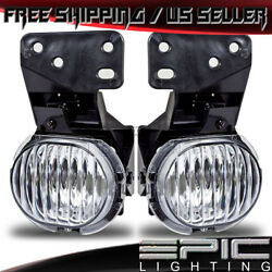 1997-2003 Chevy Malibu Driving Fog Lights Lamps - Clear - Left Right Sides Pair