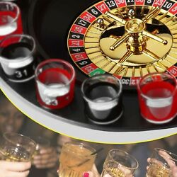Casino Party Glasses Game Spin And Shot Roulette Wheel Drinking Set For Adults 18+