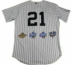 New York Yankees Dynasty 11 Signature Authentic 21 Pinstripe Jersey W/ 4 Wo...