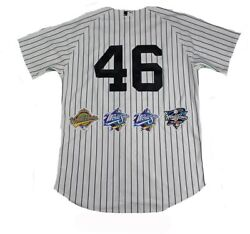 New York Yankees Dynasty 11 Signature Authentic 46 Pinstripe Jersey W/ 4 Wo...
