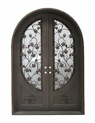 Stunning Hand-Crafted 12 Gauge Wrought Iron Doors 72