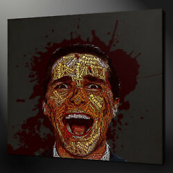 American Psycho Christian Bale Canvas Picture Print Wall Art Home Decor Free Pandp
