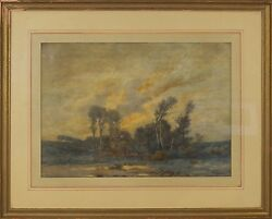 William Clusmann American 1859-1927 Original Watercolor Painting Signed