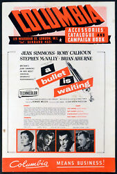 Bullet Is Waiting 1954 Jean Simmons, Rory Calhoun, Stephen Mcnally Campaign Book