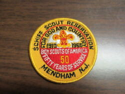 Schiff Scout Reservation 1960 Bsa 50th Anniversary Patch, Rare   C55