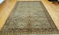 Exquisite Cr1930-1939s Antique Wool Pile 5and0399andtimes9and039 Floral Patterned Hereke Rug