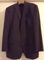 Dkny Lord And Taylor Brown Wool/cashmere Blend Sport Coat Jacket Mens Size 46 T