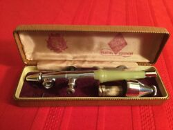 Vintage Paasche Airbrush Marble Look Handle W/ Case And Tools