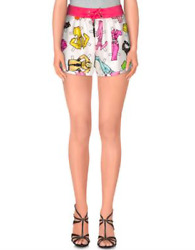 Ss15 Moschino Couture Jeremy Scott Paper Doll Sketch Barbie Printed Silk Shorts