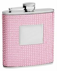 6 oz Pink Crystal Flask for Women Personalized for FREE $16.95