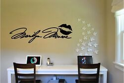 Marilyn Monroe Signature Wall Sticker Wall Mural Vinyl Decal lettering 11x36