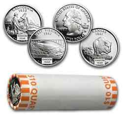 90 Silver Statehood/atb Quarters 40-coin Roll Proof - Sku 46944