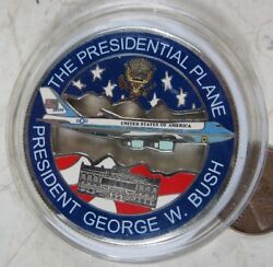 Silver Challenge Coin George W Bush Air Force One Andrews Air Force 067