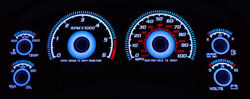Blue Glow 98-04 Chevy S10 Truck / Blazer With Tach Gauge Face Overlay New S-10