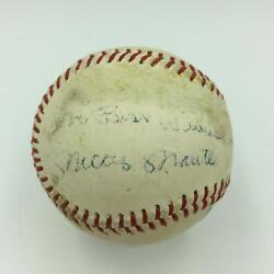 Vintage 1950and039s Mickey Mantle Early Career Single Signed Baseball Psa Dna