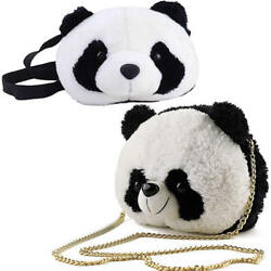 Zoo Panda Messenger Bag for Girl Boy Kid Mini Crossbody Shoulder Bag Plush Purse