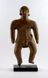 Pre Columbia West Mexico A Terracotta Colima Standing Figure