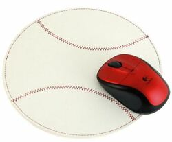 New Lot Of 25 Leather Baseball Mouse Pads White